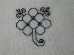 blackwork flower 2
