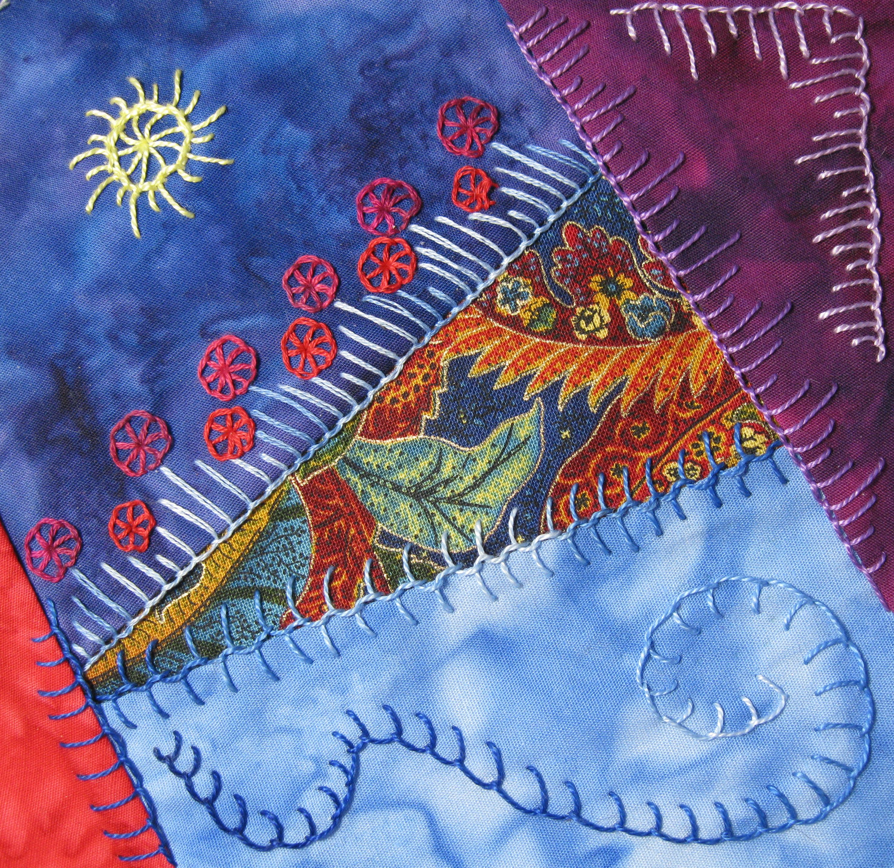 Crazy Quilting Tactile Arts Play Group